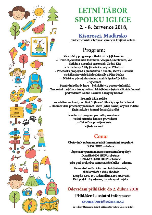 Iglice letní tábor 2019 plakát včeském jazyce