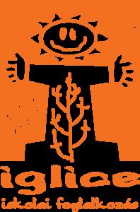Iglice iskolai foglalkozás narancs logó