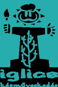 Iglice kézműveskedés kékeszöld logó