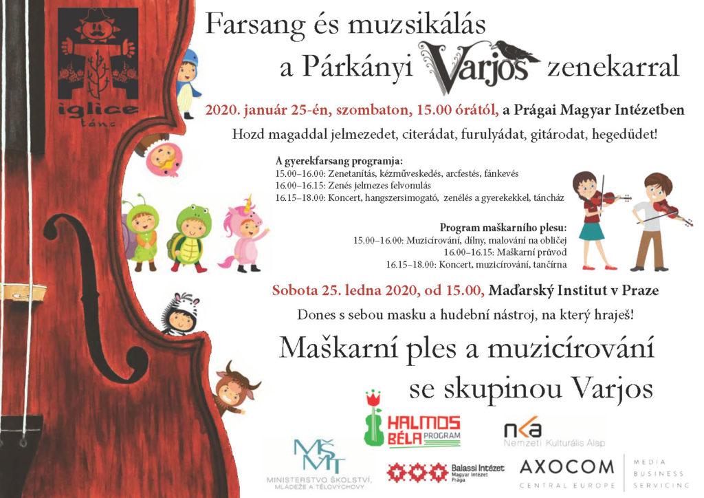 Iglice gyermekfarsang 2020: Farsang és zenélés a Párkányi Varjos zenekarral