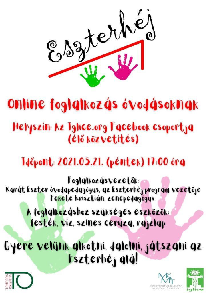 Eszterhéj: Online foglalkozás óvodásoknak / Online kroužek pro děti
