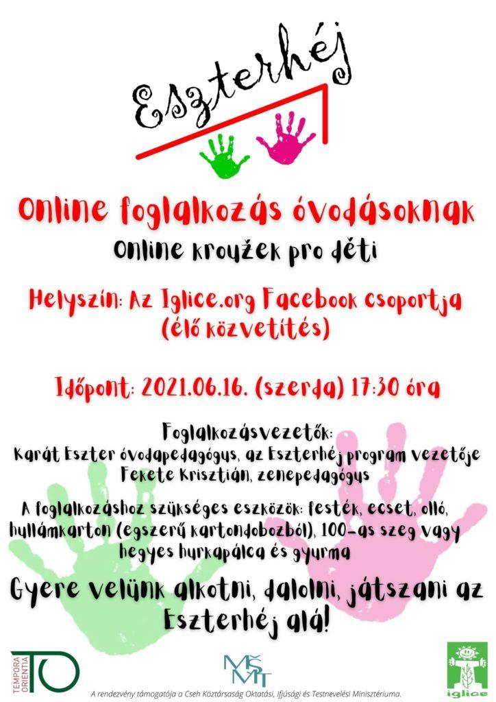 Eszterhéj: Online foglalkozás óvodásoknak 2 / Online kroužek pro děti 2
